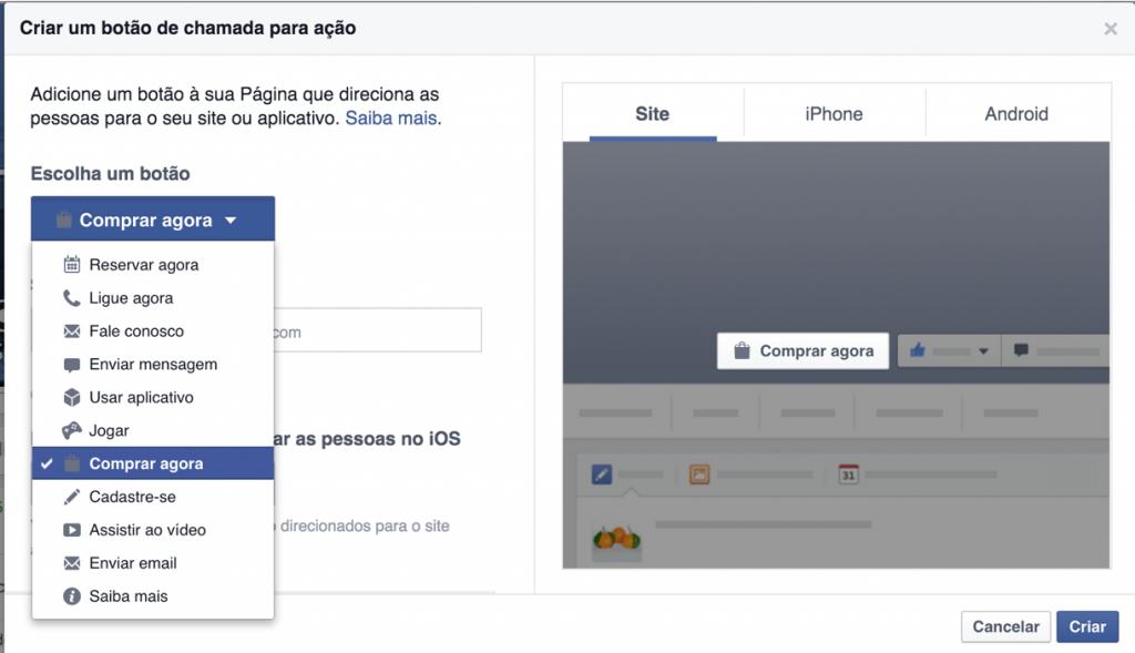 Delivery no Facebook