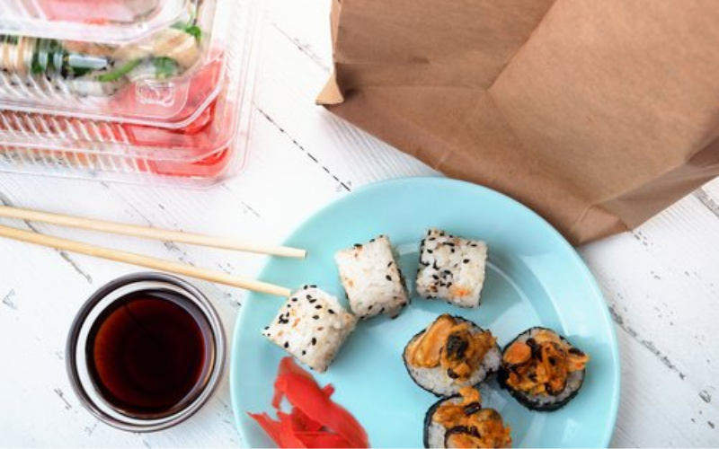 Embalagens para delivery de comida japonesa