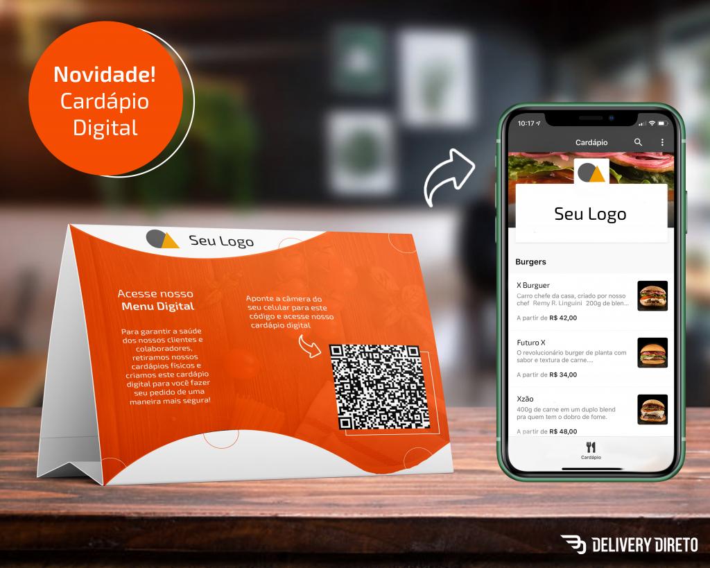 cardápio digital QR code delivery direto
