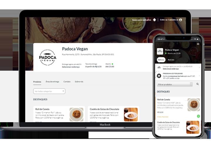 aplicativo próprio padoca vegan